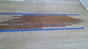 hardwood floor patch installed