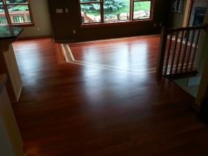Hardwood Floor Living Room Installation