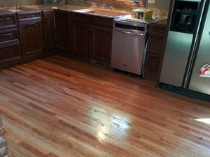 Kitchen Wood Floor Installation